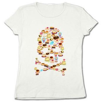 Tシャツ『スイーツ系ドクロ』
